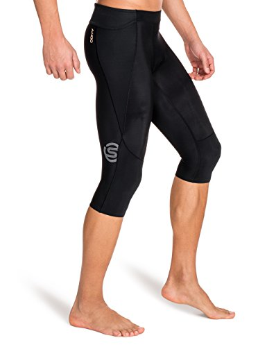 Skins Men's A400 Compression 3/4 Tights, Black, Small by Skins (Image #3)