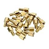 YXQ 100Pcs M3x5mm Male Female Brass Spacer Standoff Hexagonal Screw M3 Male to Female,10mm Length
