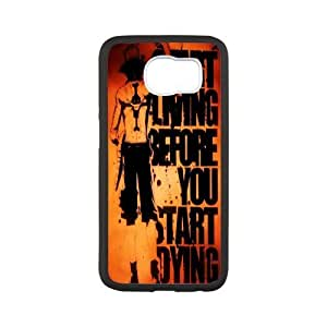 [One Piece Series] Samsung Galaxy S6 Cases One Piece Quotes, Bloomingbluerose - White
