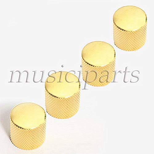 4Pcs Gold Metal Guitar Dome Knob Control for Electric Guitar Replacement Parts - Gold Mini Dome Guitar Knob