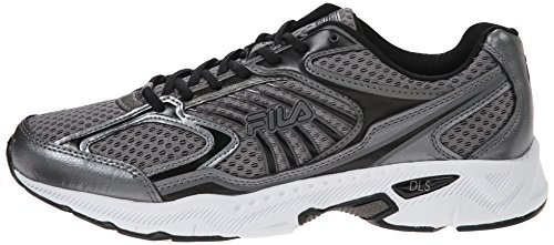 Fila Men's Inspell Running Shoe, Dark Silver/Black/White, 10 M US