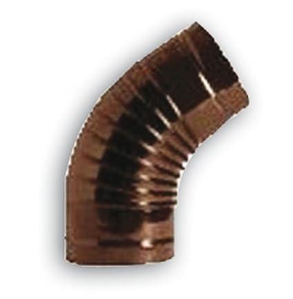 Codo a 45° para tubos estufa Ø 12cm de chapa porcellanata Color Marrón