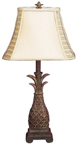 Nesting Traditional Table - Deco 79 Polystone Pineapple Motif Table Lamp, 28-Inch, Set of 2
