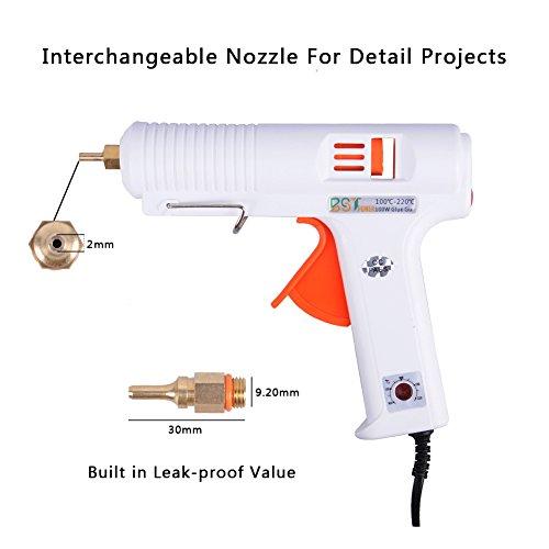 100W Hot Glue Gun with Three Interchangeable Nozzles, BSTPOWER 2T...