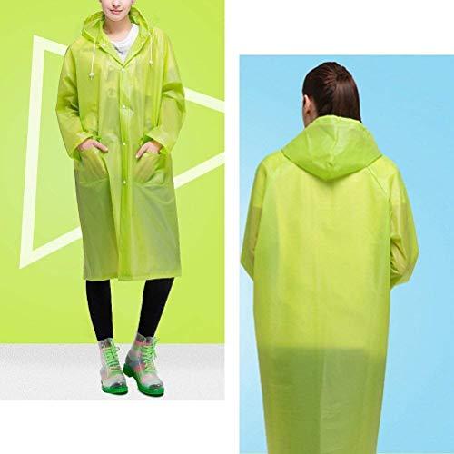 Giubbino Impermeabile Outdoor Frontali Cappuccio Tasche Poncho Leggero Stlie Frontale Adulti Antipioggia Unisex Per Grazioso Verde Con UqOrSUnx