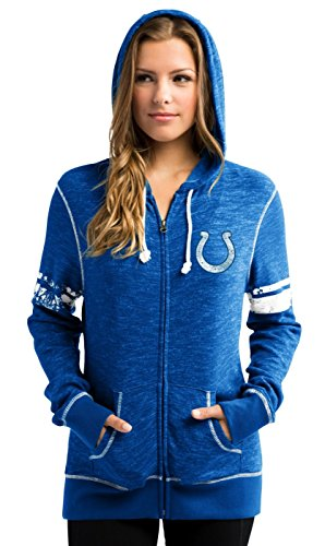 Majestic Indianapolis Colts Women's NFL Athletic Full Zip Hooded Sweatshirt