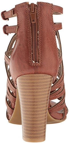 Chunky Women's Cognac Bungee Polyurethane Open Elsies Sandal Heel Toe Dress Rampage Burn BdqtB
