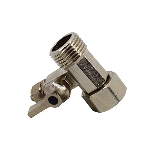 (Feed Water Adapter 1/2039;039; To 1/4039;039; Connector Ball Type Hardware Filter Medium Pressure Tee Union Twist Tap Accessories Tools Home Replace Brass Faucet )