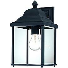 "Dolan Designs 935-50 Charleston Outdoor Wall Light, 13"", Black"