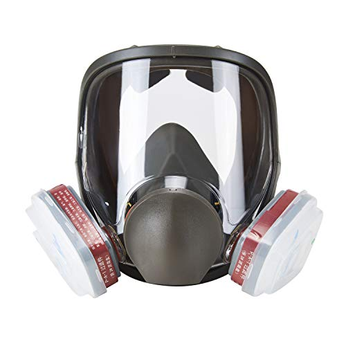 Holulo Full Face Facepiece Respirator Paint Spray Mask with 2 x Organic Vapor Cartridges by Holulo (Image #2)
