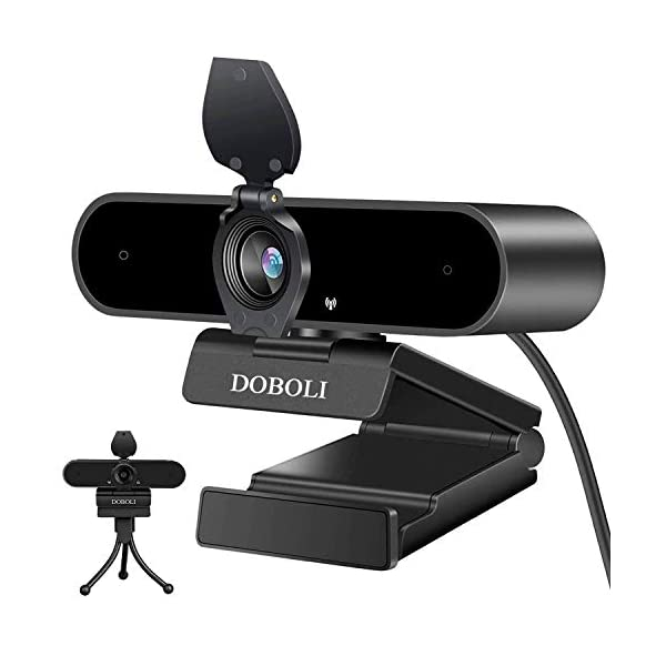 Webcam with Microphone for Desktop 1080P HD Computer Camera Streaming Webcam for PC Laptop Black