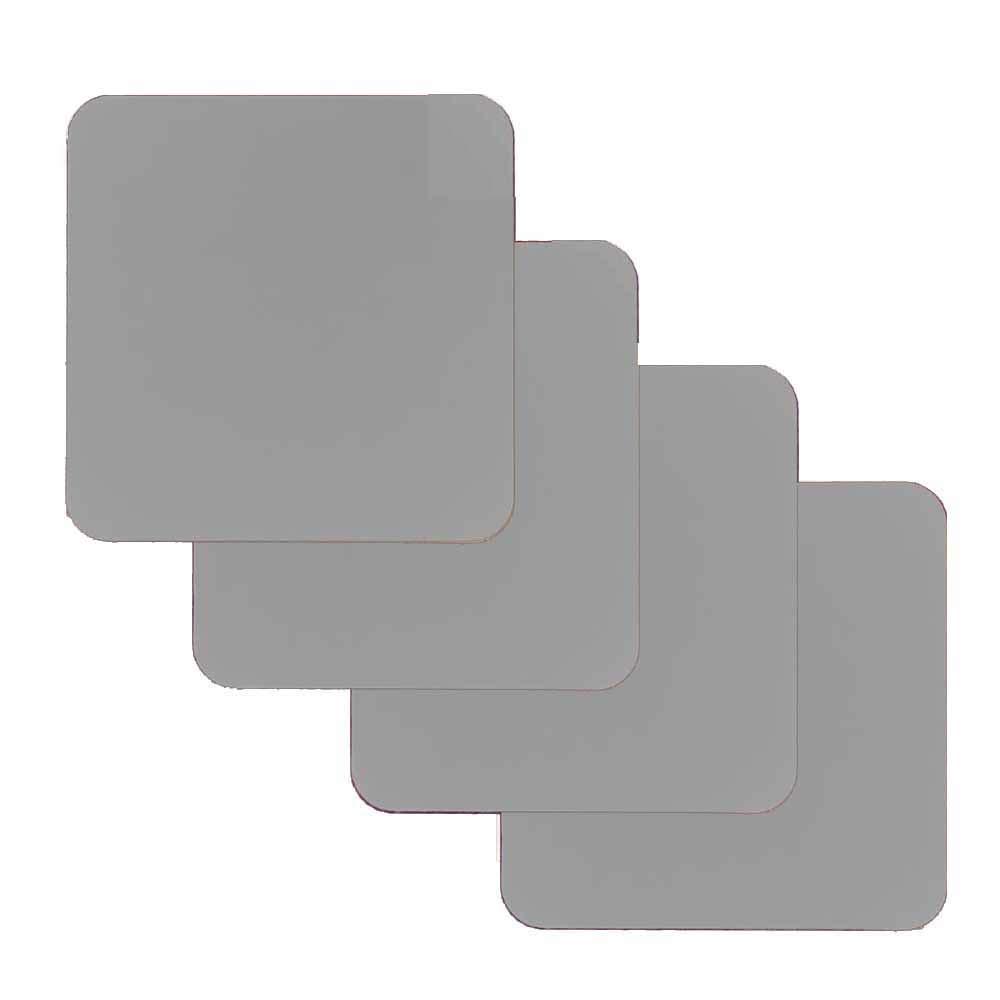 ソリッドカラーコースター - 4個セット - ホームデコレーションギフト (グレー)   B07PWFT487