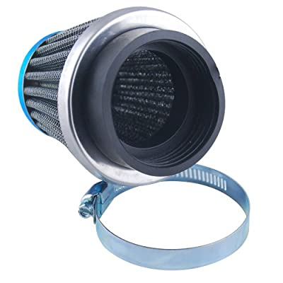 Universal Fit Custom Motorcycle Cruiser Pod Power Performance Air Filter Intake Induction Kit With 52mm Inlet Rubber Connector
