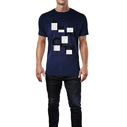 SINUS ART ® Make It Simple But Significant Herren T-Shirts in Navy Blau Fun Shirt mit tollen Aufdruck