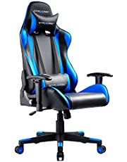 GTRACING Gaming Chair Racing Computer Ergonomic Video Game Chair Backrest and Seat Height Adjustable Swivel Recliner with Headrest and Lumbar Pillow Esports Chair
