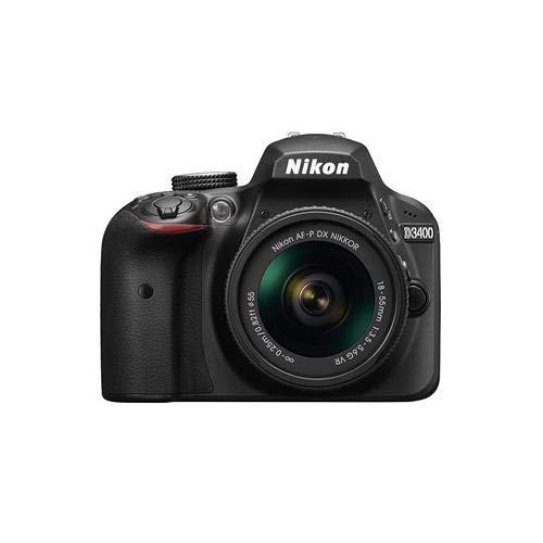 Nikon D3400 DSLR Camera w/ AF-P DX NIKKOR 18-55mm f/3.5-5.6G VR Lens, Black (Renewed) (Single Lens Reflex Camera Nikon)
