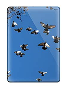 Snap-on Case Designed For Ipad Air- Flying Pigeons