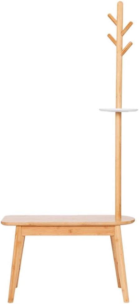 XCDES 床立ち帽子とコートコートラック服帽子ツリーオレンジハウスフロアコートラック入り口変更靴竹スツールハンガー多目的