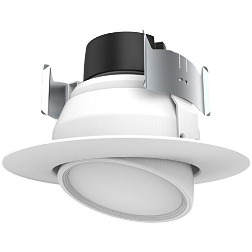 (8-Pack) Satco S9466 9WLED/DIR/4/90'/27K/120V 4'' - 45W Equal - Gimbal Dimmable LED Recessed 90° Directional Downlight Retrofit (2700K) by Satco