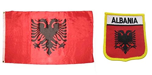 AES Wholesale Combo Set Albania Country 3x5 3'x5' Flag and 3