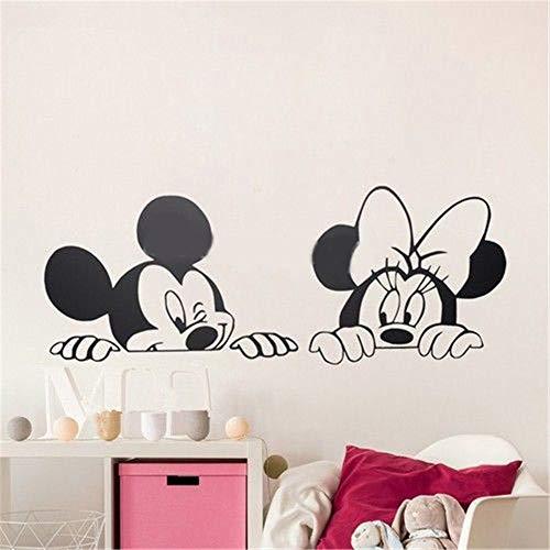 Mickey Minnie Mouse Wall Art Decal Sticker Mickey Minnie Mouse Cute Animal Vinyl Wall Stickers Children's Room Mural Nursery Art Wallpaper -