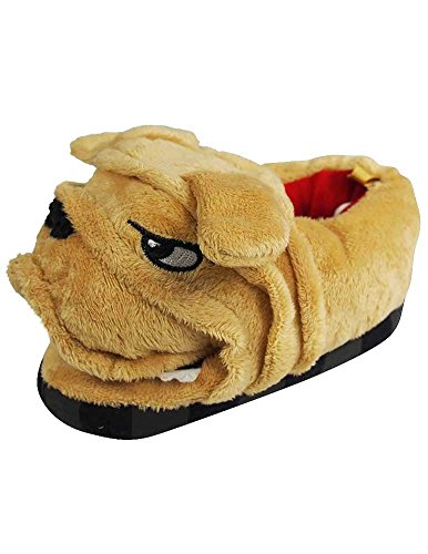 Wiggle Warms - Toddler Boys Dog Slippers, Tan 37446-XL11-12-FBA