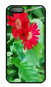 Case For Iphone 5C Cover CaCustomized Unique Design Red Flower Petals New Fashion PC Black Hard