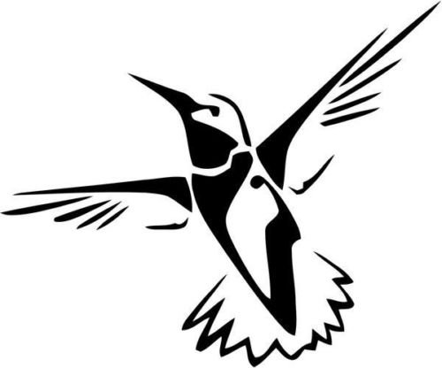Hummingbird Bird Animal Wildlife Vinyl Graphic Car Truck Windows Decal Sticker - Die cut vinyl decal for windows, cars, trucks, tool boxes, laptops, MacBook - virtually any hard, smooth surface