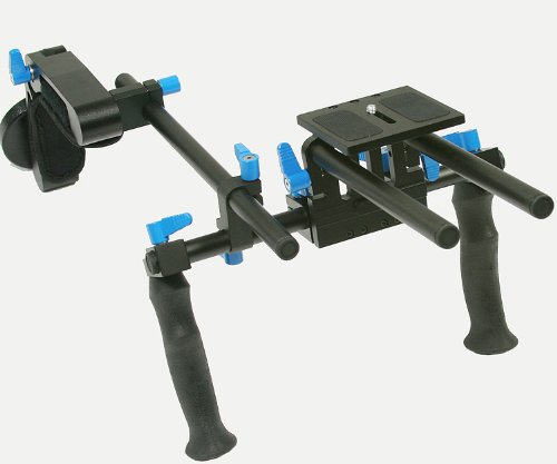 ePhoto DSLR Rig Shoulder Mount Rod Support Rail System steady DSLR DV HDV Rig with Counter Weight WRL02