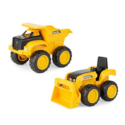 토미 존 디어 6덤프 트럭 및 장난감 트랙터 로더 건설 차량 세트 노란색