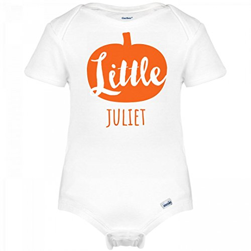 Juliet Costume Design (Little Halloween Pumpkin Juliet: Infant Gerber Onesies)