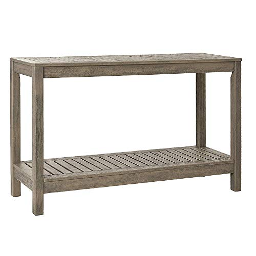 Cambridge-Casual 350225 West Lake Console Table, Weathered Grey (Outdoor Sofa Mahogany)