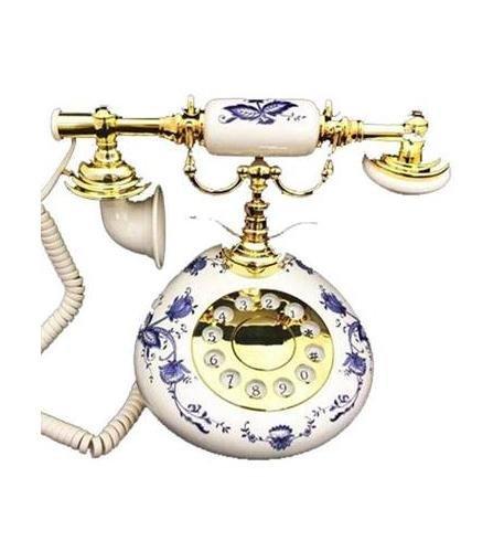 Golden Eagle BLUE 9005 Porcelain Phone - Blue and White (Phone Porcelain)