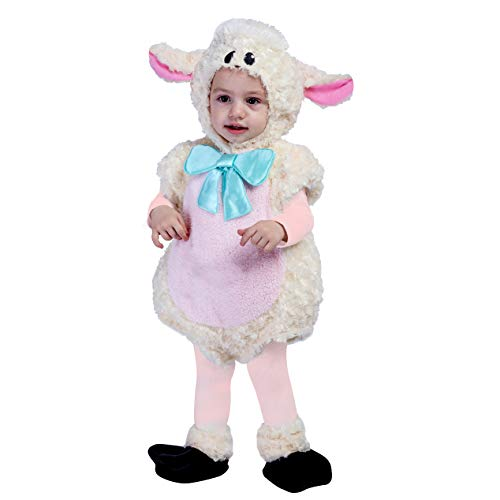 (Spooktacular Creations Baby Lovely Lamb Costume Deluxe Infant Set for Halloween Trick or Treat Dress Up (12-18)
