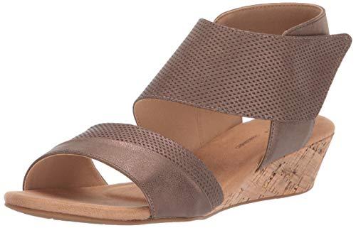 (Rockport Women Calia 2 Piece Sandal Wedge, Bronze 6.5 M US)