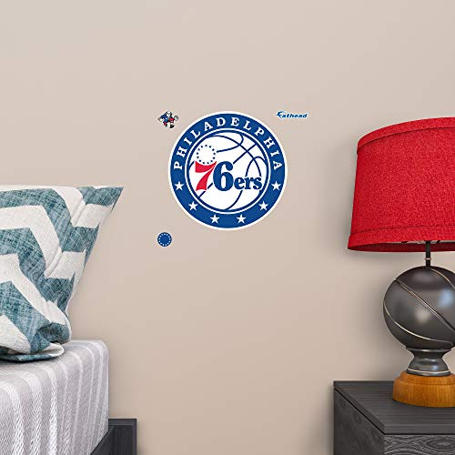 Fathead Peel and Stick Decals NBA Philadelphia 76ers Philadelphia 76ers: Teammate Logo - Officially Licensed NBA Removable Wall Decal ()