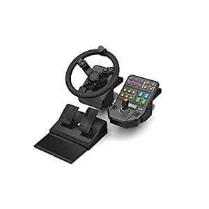 Mad Catz Saitek Farming Simulator Wheel, Pedals, and Vehicle Side Panel Bundle for PC and Mac(SCB432160002/01/1)
