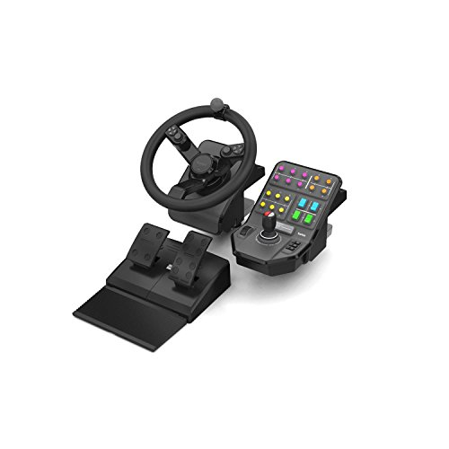 Saitek Farming Simulator Wheel, Pedals, & Vehicle Side Panel Bundle (SCB432160002/01/1) by Saitek
