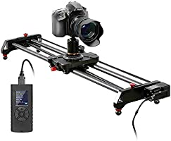 GVM Camera Slider with Motor, Motorized Carbon Fiber Camera Pocket, Camera Slots with Timer, Holding, Focus, Parallax...