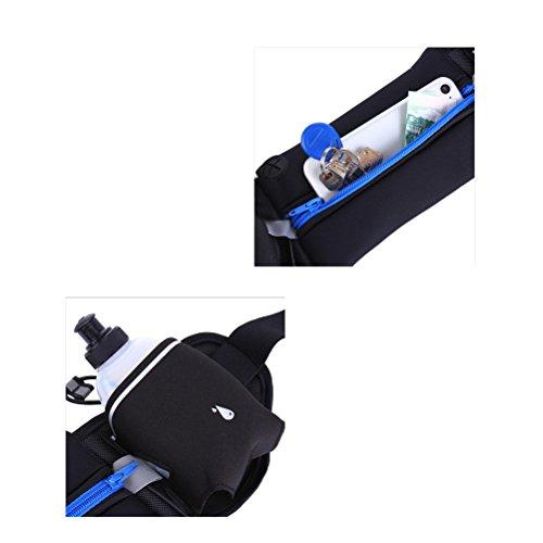 WINOMO Sport Hüfttasche Multifunktions Gurt mit Flaschenhalter für Sports Wandern Laufen