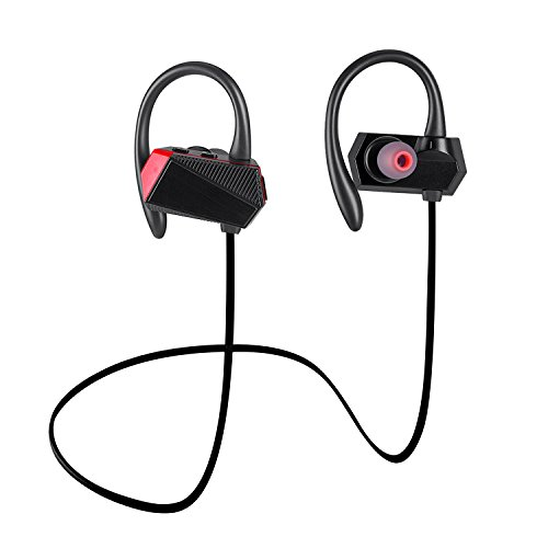 Bluetooth Headphones Best Wireless Sports Earphones w/ Mic Waterproof Sweatproof Bluetooth Earbuds HD Stereo Noise Cancelling Earephones for Gym Running Workout