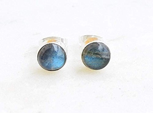 80f11a8d4 Image Unavailable. Image not available for. Color: Grey Blue Fire  Labradorite Stud Post Earrings ...