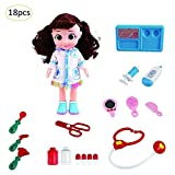 Greatpassion 4/16/18 PCS Doctor Kit for Kids with Doll&Doctor Playset Medical Tools Packed