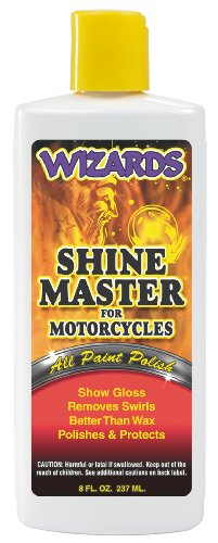 Wizards 22033 Shine Master for Motorcycles - 8 oz. (Wizards Master Shine)