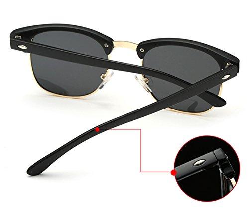 64fbbb5ffb Joopin Semi Rimless Polarized Sunglasses Women Men Retro Brand Sun Glasses  (Brilliat Black Frame