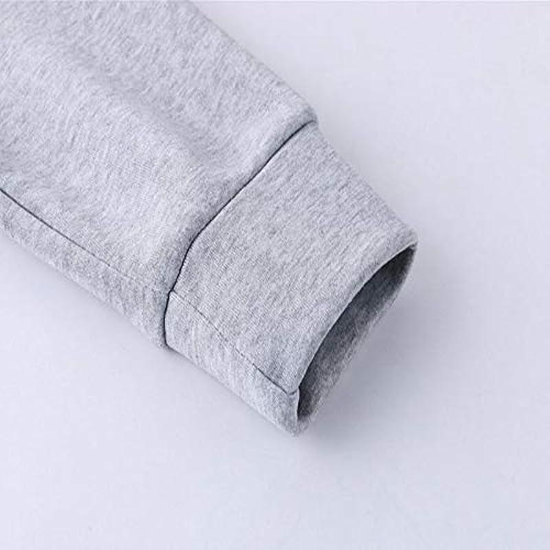 YANGPP Lässiger Pullover Mit Kapuzenbuchstaben Für Męskie, Khaki White, XXL: Odzież