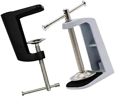 クランプ 調節可能 アーム式 机 テーブル クリップ 2ピース ブラケットクランプ 長持ち