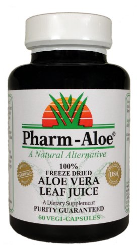 Pharm-Aloe® 100% Freeze Dried jus d'Aloe Vera capsules 60 vegi-casquettes