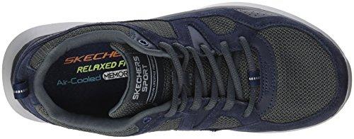 Flex Grey Navy Country Bleu Quantum Skechers Baskets Homme Walker T5Fwq