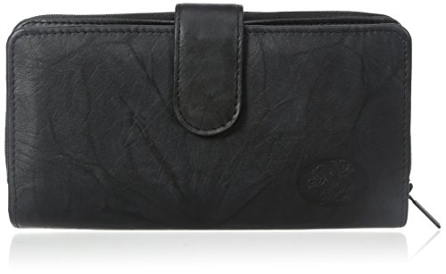 Buxton Women's Heiress Checkbook Wallet, Black, One Size